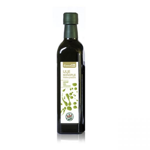 CannaBio ulje konoplje hladno prešano, 500 ml